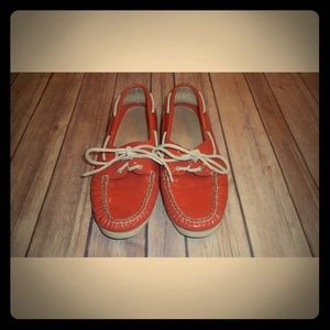 Sperry top siders orange patent leather sz 8 shoes
